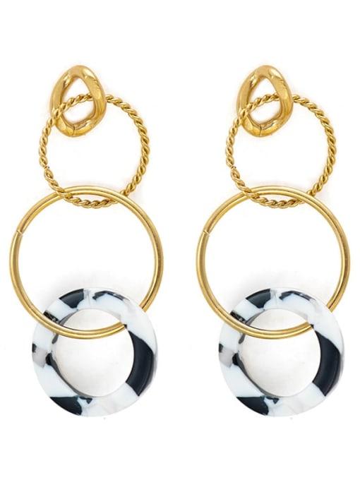 YAYACH Stainless steel circle acrylic Earrings