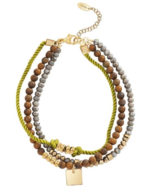Green Handmade diy simple personality stainless steel jewelry