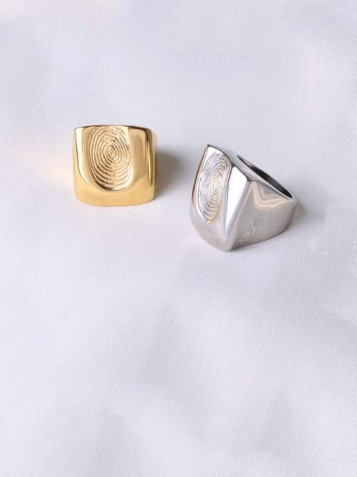 MAKA Titanium Steel Irregular Artisan Band Ring 2