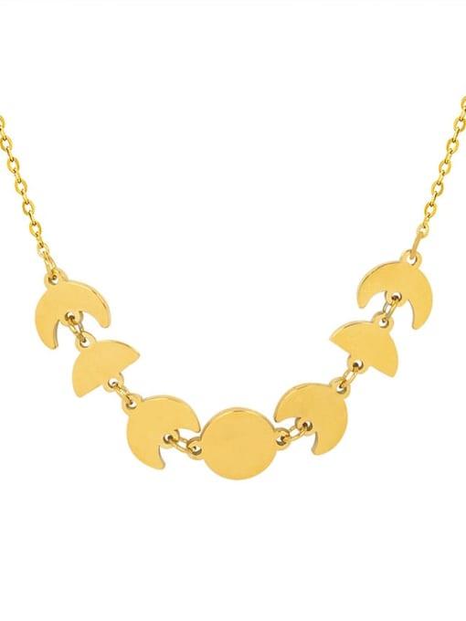 MAKA Brass Smooth Irregular Minimalist Necklace 2