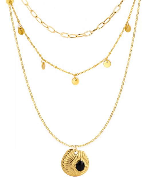 YAYACH Small fresh drop oil embossed texture pendant necklace 0