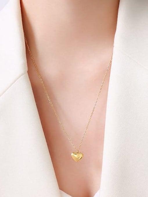 MAKA Titanium Steel Heart Minimalist Necklace 1