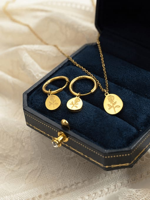 YAYACH Light luxury rose flower ins style earrings necklace 1