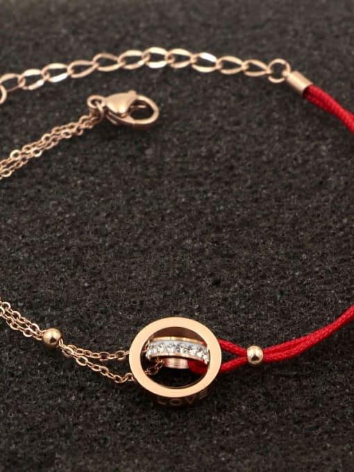 K.Love Titanium Steel Rosary Minimalist Woven Bracelet 3