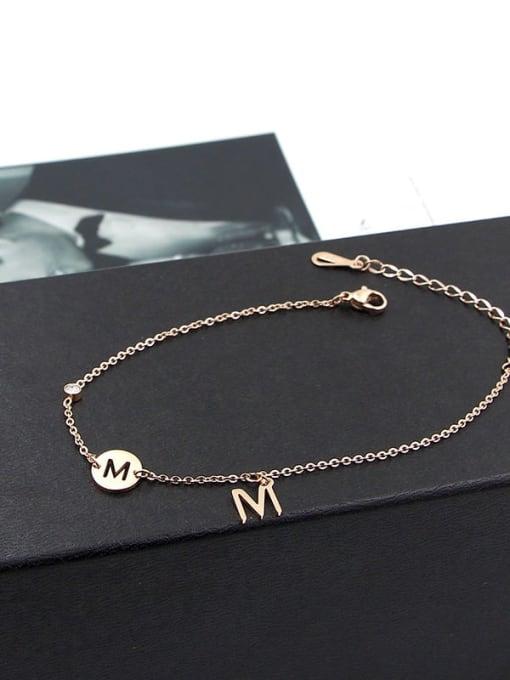 K.Love Titanium Steel Minimalist Letter   Anklet 4