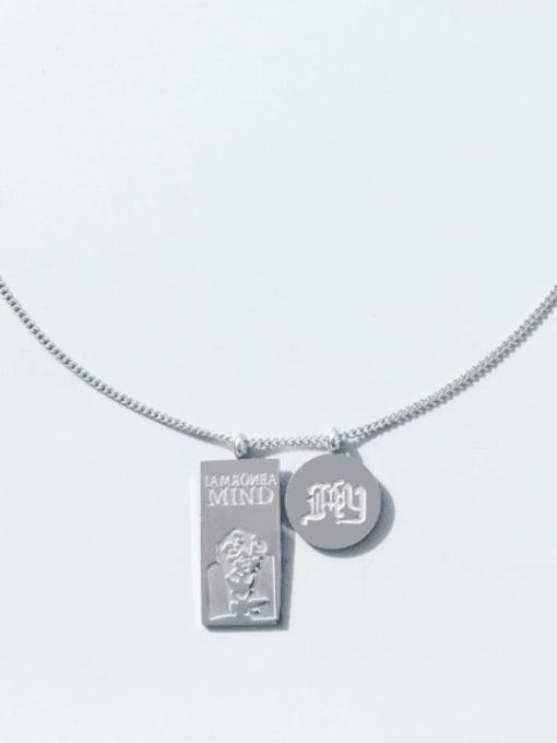 MAKA Titanium Steel Geometric Hip Hop Necklace 3