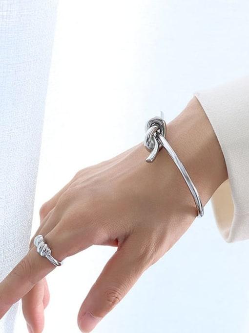 Z175 Steel Bracelet Titanium Steel Irregular Minimalist Cuff Bangle