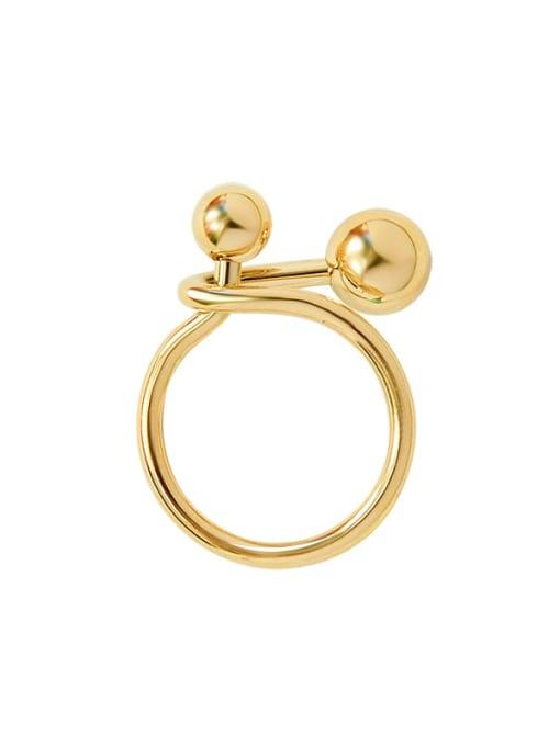 MAKA Titanium Steel Bead Round Minimalist Band Ring