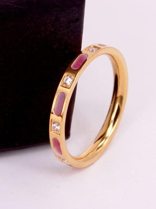 K.Love Titanium Steel Shell Geometric Minimalist Band Ring 3
