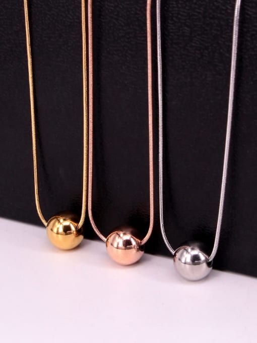K.Love Titanium Steel Round Bead  Minimalist Necklace 2