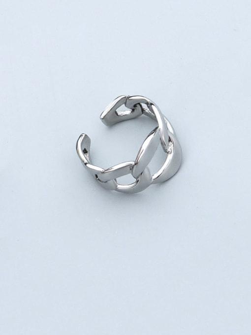 Steel US 7 Titanium Steel  Hollow Geometric Minimalist Band Ring