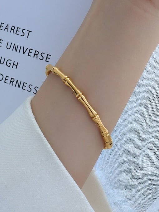 Z220 gold Titanium 316L Stainless Steel Geometric Vintage Band Bangle with e-coated waterproof