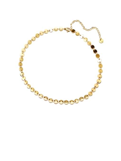 MAKA Titanium Steel Smooth Geometric Vintage Necklace