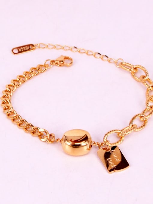 K.Love Titanium Steel Oval Vintage Link Bracelet 2