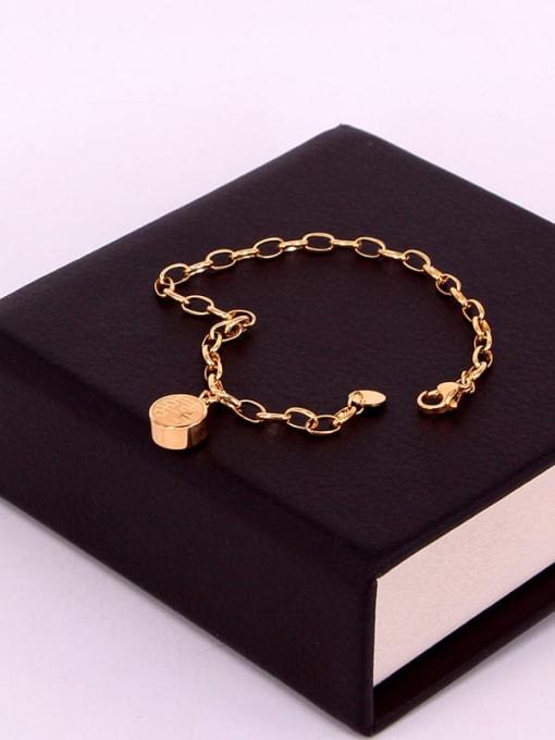 K.Love Titanium Steel Irregular Minimalist Link Bracelet 3