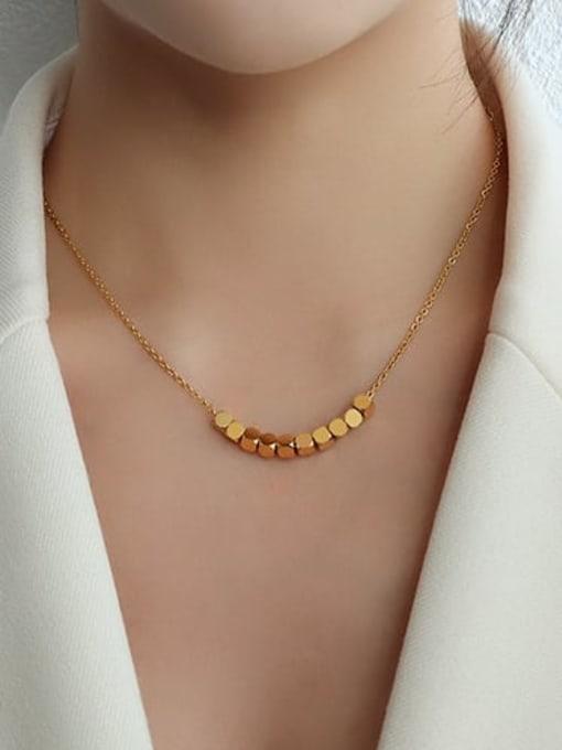 MAKA Titanium Steel Geometric Minimalist Necklace 3