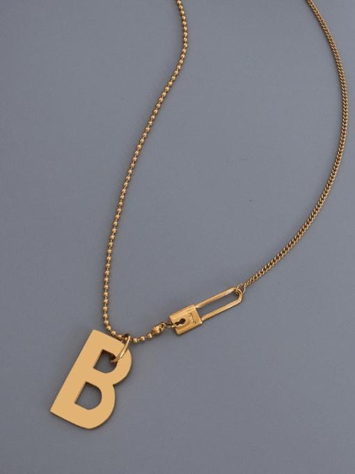 MAKA Titanium Steel Letter Hip Hop Necklace 2