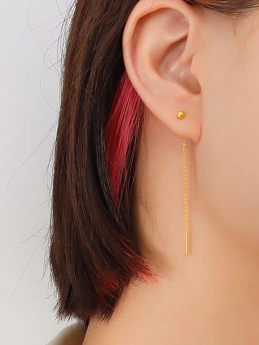 6cm ear line pair Titanium Steel Tassel Minimalist Threader Earring