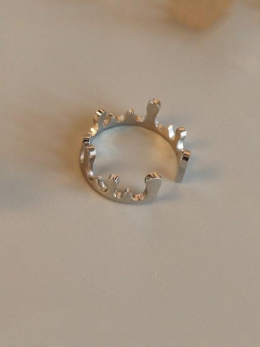 MAKA Titanium Steel Smooth Crown Cute Band Ring 2
