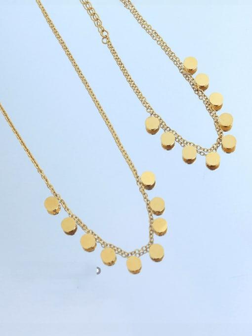 MAKA Titanium Steel Minimalist Round  Bracelet and Necklace Set 0