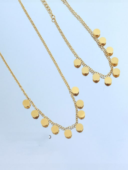 MAKA Titanium Steel Minimalist Round  Bracelet and Necklace Set