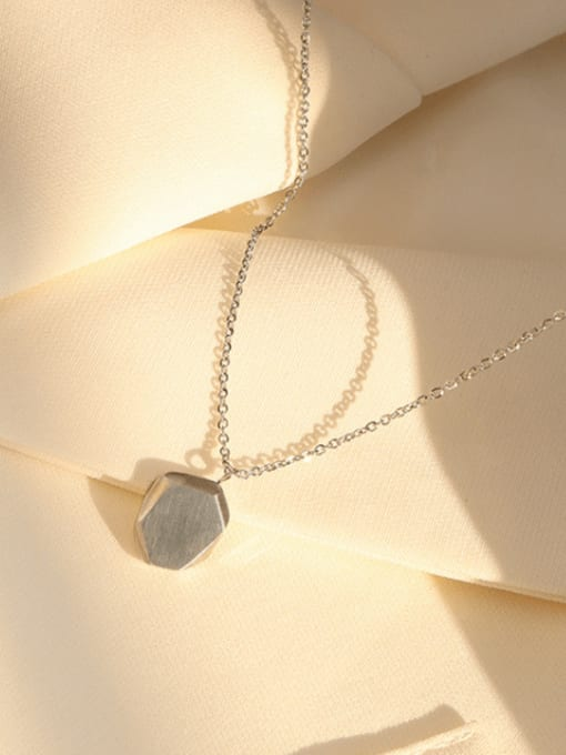 P936 Steel  40+5cm Titanium Steel Geometric Minimalist Necklace