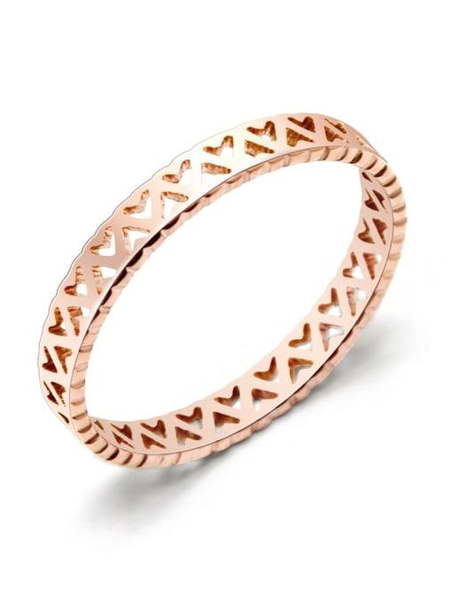 MAKA Titanium Steel Hollow Heart Minimalist Band Ring 3