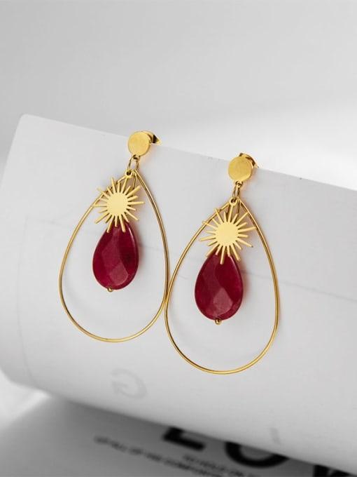 YAYACH Inlaid fashion Sun Star Earrings
