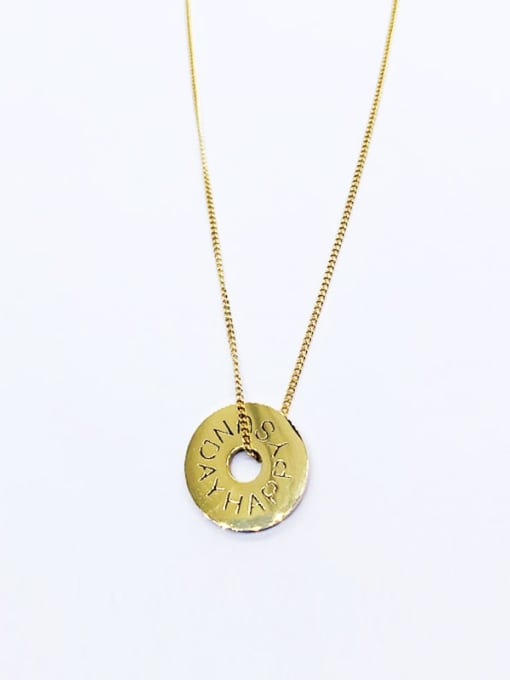YAYACH Hollow letter coin Stainless Steel Necklace 0