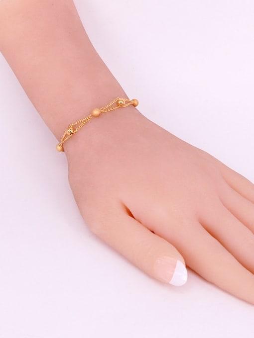 K.Love Titanium Steel Bead Round Minimalist Strand Bracelet 2