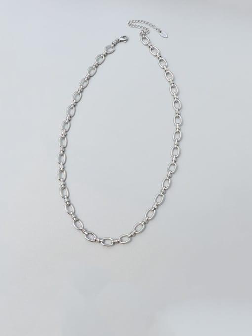 MAKA Titanium Steel Minimalist Geometric  Braclete and Necklace Set 4