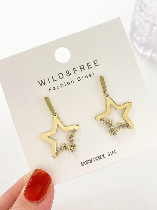 YAYACH Crystal diamond earrings French titanium steel earrings 1