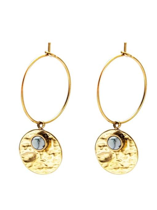 Gray Fashion natural stone earrings