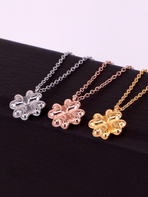 K.Love Titanium Steel Clover Minimalist Necklace 1