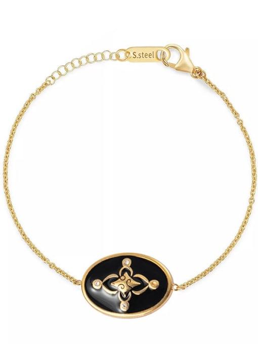 YAYACH Oil dripping oval exquisite titanium steel bracelet 1