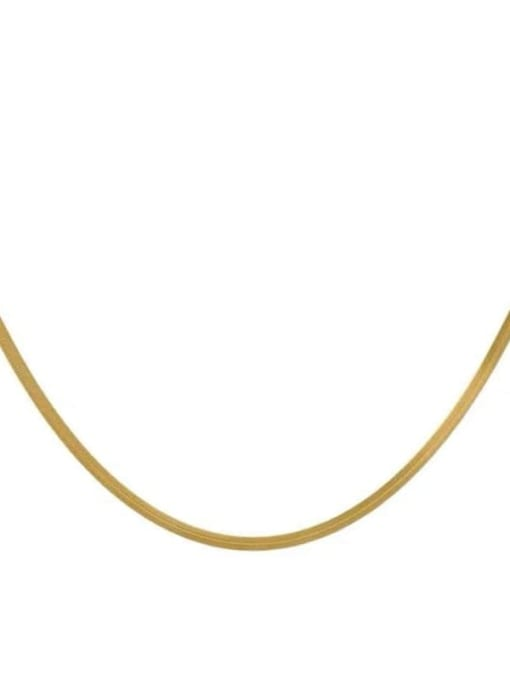 YAYACH Snake bone chain gold cold wind personality clavicle titanium steel necklace 2