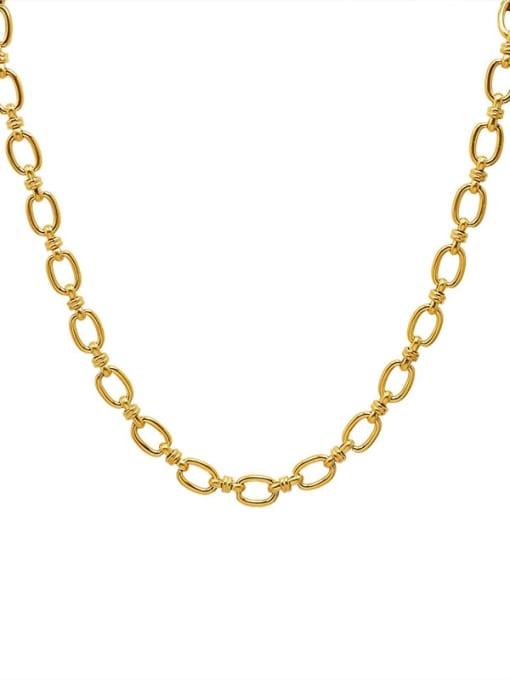 P995 gold necklace 40+ 5cm Titanium Steel Minimalist Geometric  Braclete and Necklace Set