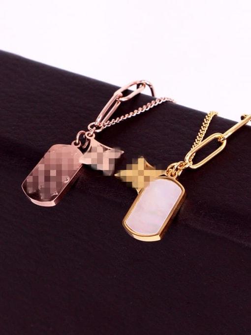 K.Love Titanium Steel Shell Geometric Vintage Necklace 1
