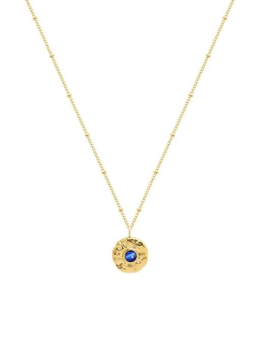 Gold necklace 40+5cm Titanium Steel Cats Eye Geometric Minimalist Necklace