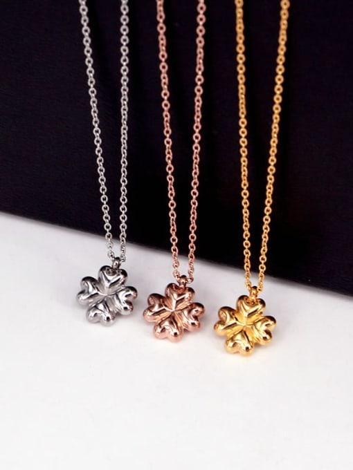 K.Love Titanium Steel Clover Minimalist Necklace 3