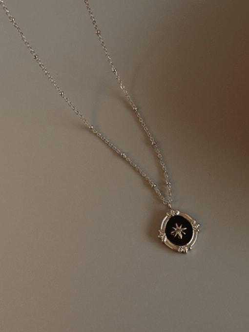 Steel Titanium Steel Enamel Geometric Vintage Necklace