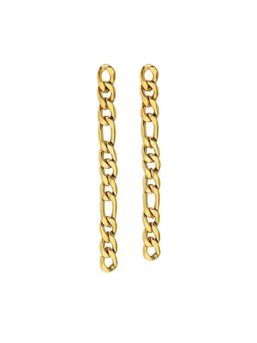 gold gs Titanium Steel Geometric Chain Minimalist Drop Earring