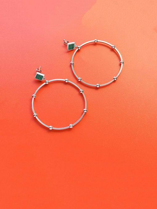 Steel Titanium Steel Acrylic Geometric Minimalist Drop Earring