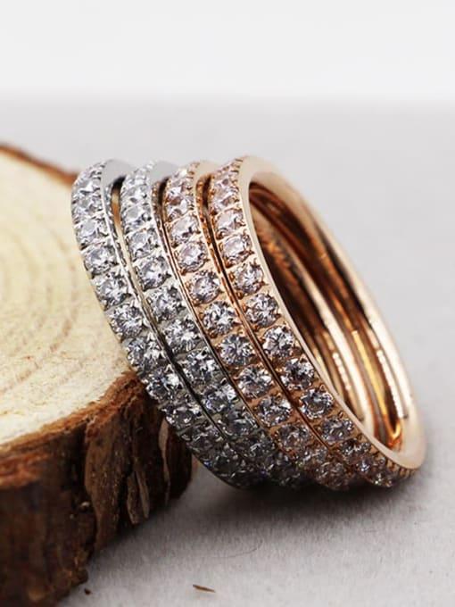 K.Love Titanium Steel Cubic Zirconia Round Minimalist Band Ring 4