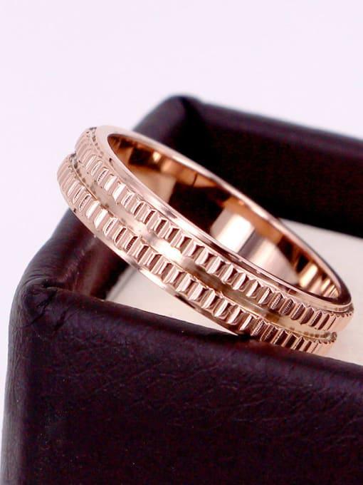 K.Love Titanium Steel Geometric Minimalist Band Ring 1