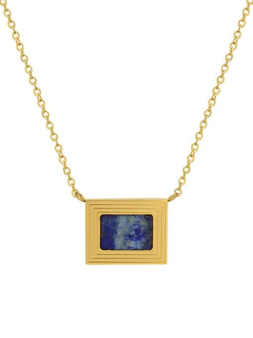 MAKA Brass Cubic Zirconia Geometric Minimalist Necklace