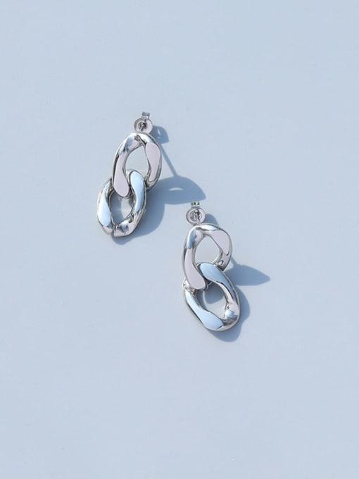 MAKA Titanium Steel Hollow Geometric Vintage Drop Earring 2