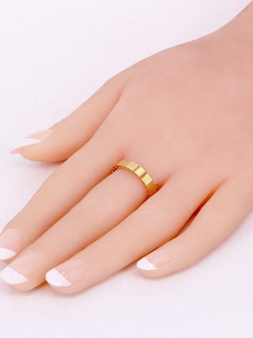 K.Love Titanium Steel Number Minimalist Band Ring 1