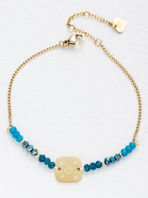 gold Stainless steel Bead Geometric Bohemia Link Bracelet