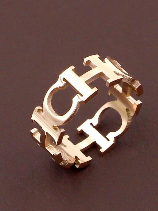 K.Love Titanium Steel Letter Minimalist Band Ring 2